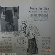 Ladies Golf Dress Mary Hezlet Rare Old Antique Edwardian Photo Article 1906
