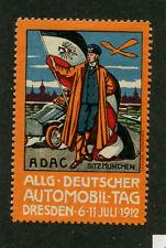 Poster Stamp Dresden 1912 DEUTSCHER AUTOMOBIL TAG Germany Car Sitz Munchen #IM