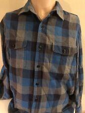 Bonobos Plaid Flannel Shirt Standard Fit Large Blue Gray