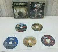 Lot Of 7 PlayStation 3 Ps3 Resistance, Conflict, Call of Duty MW 2, MLB 09 10