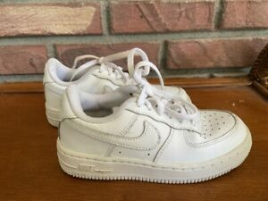 Nike Force 1 LE Sneakers Shoes~Child's~12C~Triple White~Excellent
