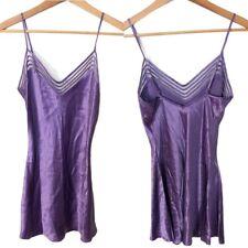 Victoria's Secret Silk Purple Slip Chemise Lingerie Size XS