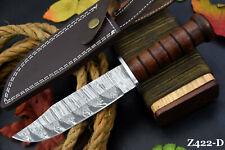 Custom Damascus Steel Hunting Knife Handmade With Walnut Handle (Z422-D)
