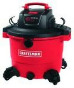 Craftsman 16 gal. Corded Wet/Dry Vacuum 12 amps 120 volt 6.5 hp Red