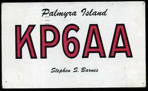 CARD  CARTE  QSL  radio amateur  ISLAND    ( 436 )