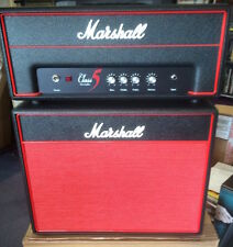 MARSHALL CLASS 5 ROULETTE VALVE / TUBE GUITAR HEAD AND CABINET LTD RED, EX-DEMO