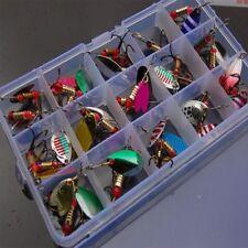 30pcs/lot Bass Baits Angling Kit Set Metal Fishing Lures Hooks Trout Spoon