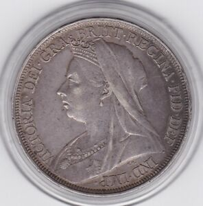 1897  Queen  Victoria  Large  Crown / Five Shilling  Coin