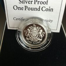 GB COINS £1 1993 SILVER PROOF COIN GEM SUPERB CASED WITH CERTIFICATE