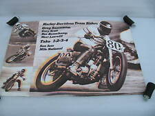 original 1975 Harley Davidson Race Poster San Jose Mile National Greg Sassaman