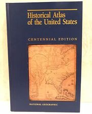 1988 Historical Atlas US National Geographic Centennial Ed Clear Map Overlay