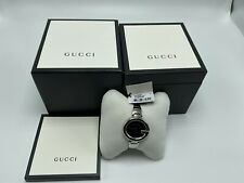 NEW Gucci Guccissima Stainless Steel Women Watch YA134301 MSRP $595