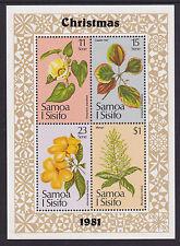 1981 Samoa Christmas - MUH Mini Sheet
