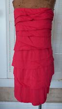 Velvet Graham & Spencer XL Hot Pink tiered tube mini dress knit strapless