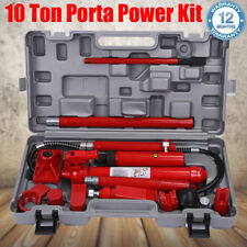 Heavy Duty 10 TON Hydraulic Porta Power Panel Beating Body Frame Repair Tool Kit