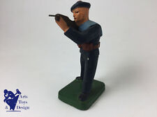 JRD FRANCE VERS 1935 FIGURINE SOLDAT MARIN TIRANT AU FUSIL H 9.5CM