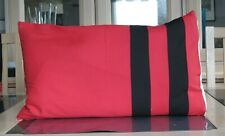 RED AND BLACK COTTON BOLSTER CUSHION COVER