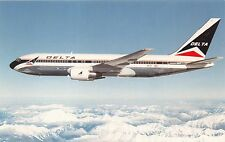 DELTA AIRLINES BOEING 767~AIRLINE ISSUED POSTCARD