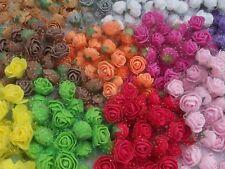 Rosen Minirosen  Seidenrosen Dekoration Hochzeit Taufe 72 Stück lila