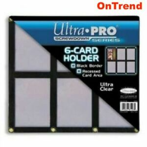 Ultra-Pro Black Frame 6-Card Holder for Trading Cards - NBA, AFL, NRL, Pokemon