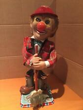 T N Nomura Japan Dozo The Steaming Clown battery operated plastic/tinplate toy