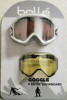 new Bolle O'Hara Anti-fog Snowboard/Ski Men's Goggles + Extra Storm Lens