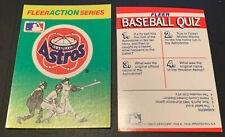 1990 Fleer Baseball Action Series Sticker Card Houston Astros Astrodome Logo