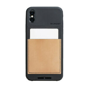 NEW Moment Case for iPhone X XS - 6ft Drop Protection - Leather & Black