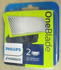 NEW Sealed Philips Norelco One-Blade Replacement Blade, 2 Count, QP220/80