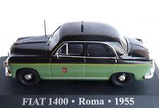 """Fiat 1400 Taxi """"Roma"""" 1955 Negro Y Verde 1-43 ALTAYA Old Skool Clásicas de coche"""
