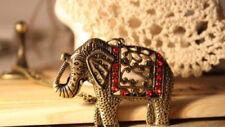 Elefanten Modeschmuck-Halsketten & -Anhänger mit Strass-Hauptstein für Damen