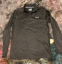 Nwt Mens Under Armour S Rifle Green Velocity Embossed 1/4 Zip Shirt 1248909 $45