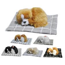 Cute Sleeping Dog Puppy Plush Doll Toys w/ Sound Stuffed Animal Baby Kids Gift