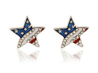 American Flag Stars Stripes Patriotic 4th of July Independence Day Earrings