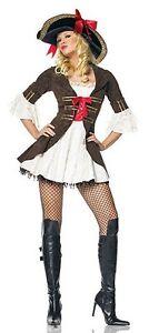 Marauding Pirate Captain Costume, Leg Avenue 83339, Adult Size XS