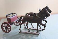 POMPIER PLOMB ANCIEN   Attelage 2 chevaux