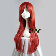 Fairy TAIL ERZA SCARLET 100cm Anime Costume Cosplay Parrucca + Cap
