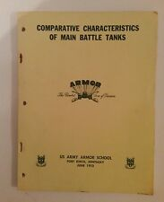 Vintage 1973 Tank Book Comparative Characteristics of Main Battle Tanks  US Army