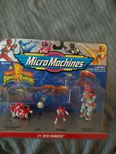 Micro Machines - MIGHTY MORPHIN POWER RANGERS, #1 RED RANGERS MINIATURE VINTAGE