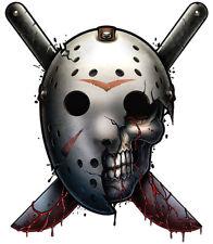 """""""Horror"""" Temporary Tattoo, Jason Skull in Hockey Mask Friday the 13th, Halloween"""