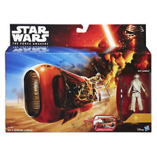 "Star Wars Force Awakens Rey's Speeder & 3.75"" Rey (Jakku) Figure by Hasbro"