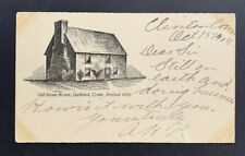 Connecticut: Clinton 1904 #UX19 Old Stone House Building Postal Card