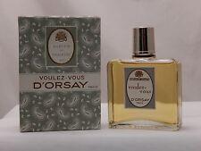 VINTAGE D'Orsay Voulez Vous 4 fl oz Parfum de Toilette splash bottle