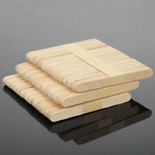 50x Ice Cream Cake DIY HandiCraft Wooden Popsicle Stick Original Timber Sticks