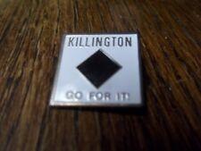 KILLINGTON VT GO FOR IT BLACK DIAMOND SKI PIN