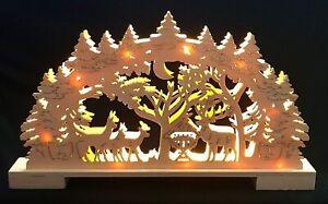 3DHolz LED Lichterbogen Schwibbogen Winterlandschaft Weihnachten Weihnachtsdeko