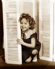 SHIRLEY TEMPLE 1935 SINGER ACTRESS HOLLYWOOD MOVIE STAR SEPIA PHOTO