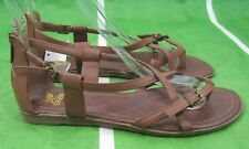 LADIES NEW Summer Tan Womens Shoes Roman Gladiator Sandals Size 7