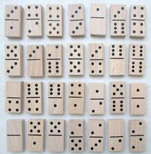 Boîte 28 dominos double 6 en bois 4 x 1,9 x 0,7 cms Boîte à couvercle coulissant