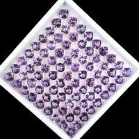 81 Pcs 8mm Natural Amethyst Top Quality Lusturous Gems Wholesale Lot Pear Cut
